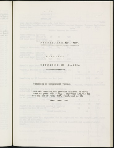 Ginneken en Bavel - Verslagen van de toestand van de gemeente 1881