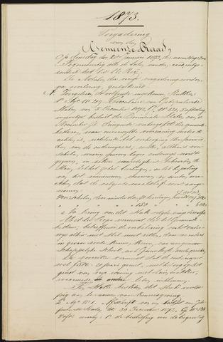 Teteringen - Notulen en bijlagen van de gemeenteraad 1873