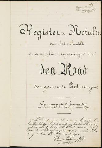 Teteringen - Notulen en bijlagen van de gemeenteraad 1911