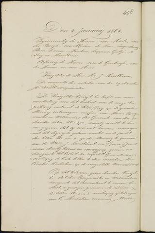 Breda - Notulen van de gemeenteraad 1861-01-01