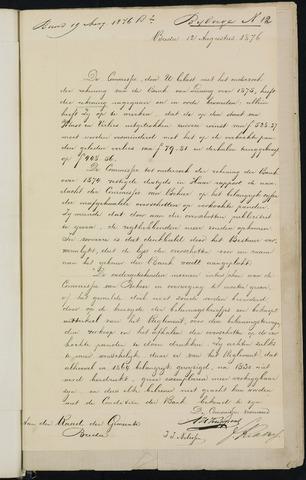 Breda - Bijlagen bij de notulen van de gemeenteraad 1876