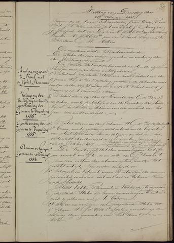 Ginneken en Bavel - Notulen van de gemeenteraad 1888-01-01