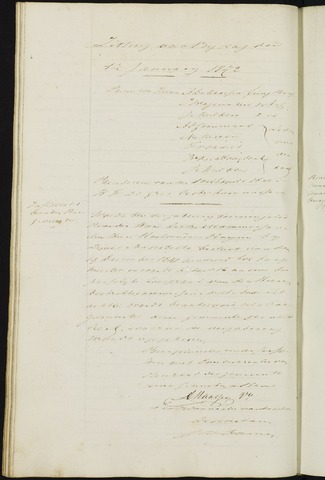 Ginneken en Bavel - Notulen van de gemeenteraad 1842-01-01