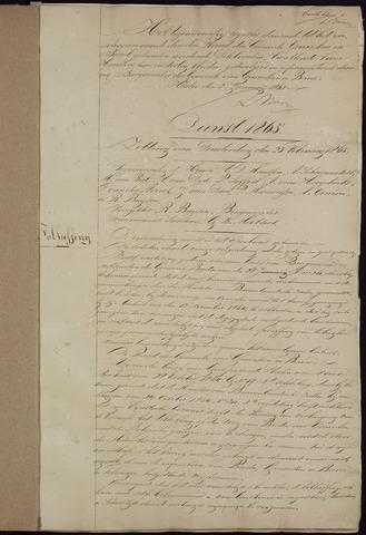 Ginneken en Bavel - Notulen van de gemeenteraad 1865-01-01