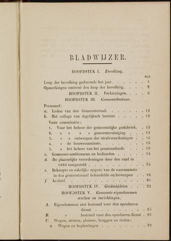 Breda - Verslagen van de toestand van de gemeente 1888-01-01