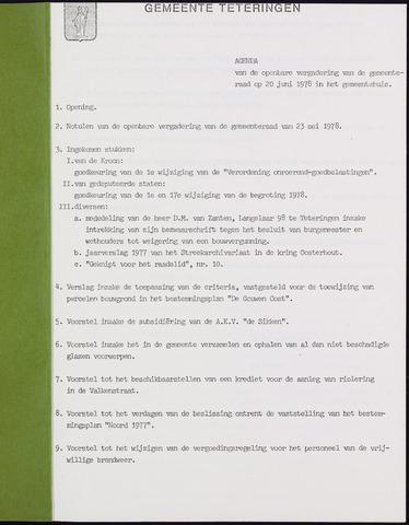 Teteringen - Notulen en bijlagen van de gemeenteraad 1978-06-20