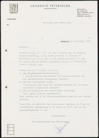 Teteringen - Notulen en bijlagen van de gemeenteraad 1975-09-30