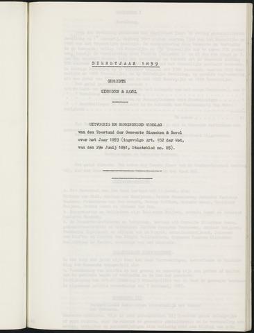 Ginneken en Bavel - Verslagen van de toestand van de gemeente 1859