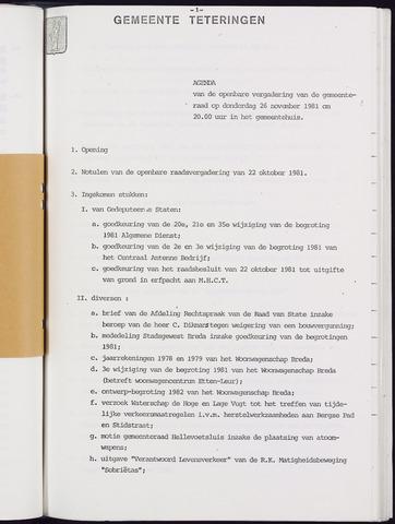 Teteringen - Notulen en bijlagen van de gemeenteraad 1981-11-26