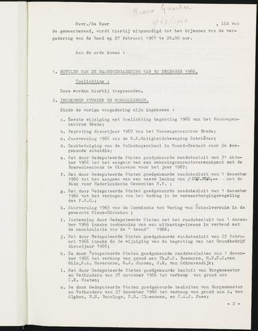 Nieuw-Ginneken - Notulen en bijlagen van de gemeenteraad 1967-01-01