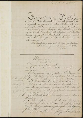 Teteringen - Notulen en bijlagen van de gemeenteraad 1885