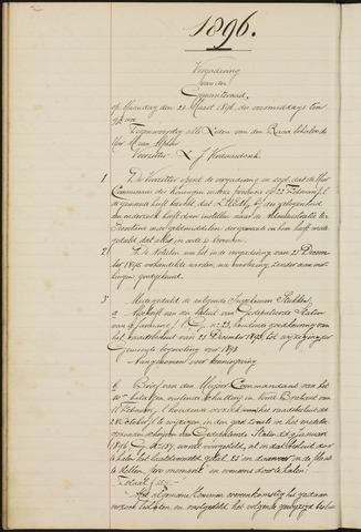 Teteringen - Notulen en bijlagen van de gemeenteraad 1896