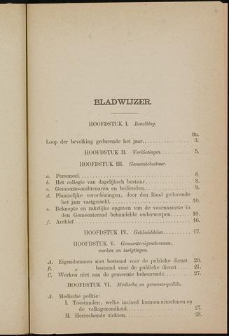 Breda - Verslagen van de toestand van de gemeente 1873