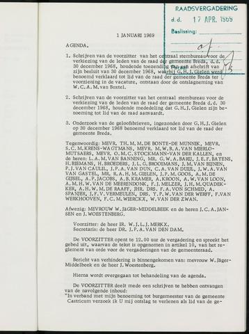 Breda - Notulen van de gemeenteraad 1969-01-01