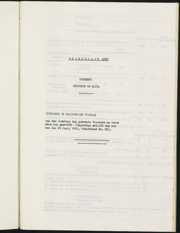 Ginneken en Bavel - Verslagen van de toestand van de gemeente 1870
