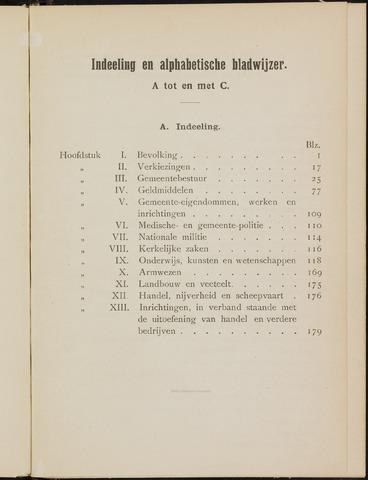 Breda - Verslagen van de toestand van de gemeente 1909