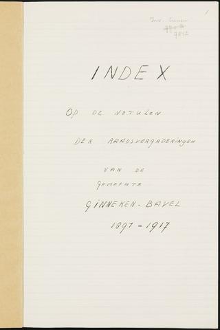 Ginneken en Bavel - Indexen op de notulen van de gemeenteraad 1891