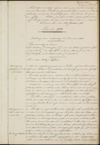Ginneken en Bavel - Notulen van de gemeenteraad 1910-01-01