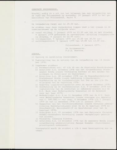 Prinsenbeek - Notulen van de gemeenteraad 1979