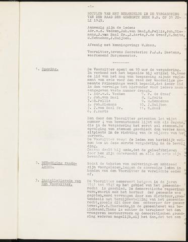 Prinsenbeek - Notulen van de gemeenteraad 1945