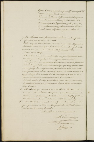 Princenhage - Notulen van de gemeenteraad 1867