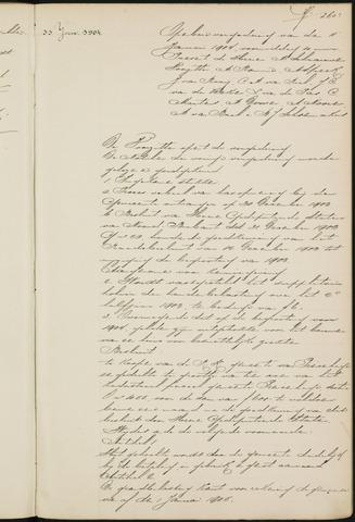 Princenhage - Notulen van de gemeenteraad 1904