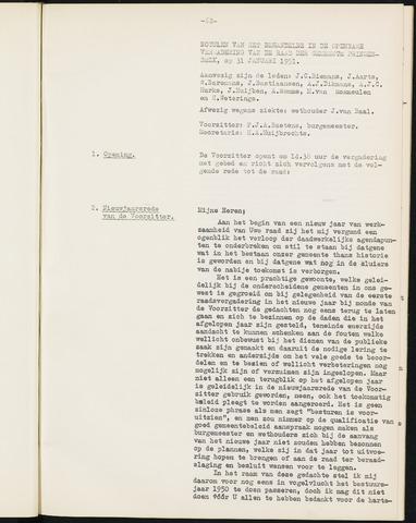 Prinsenbeek - Notulen van de gemeenteraad 1951