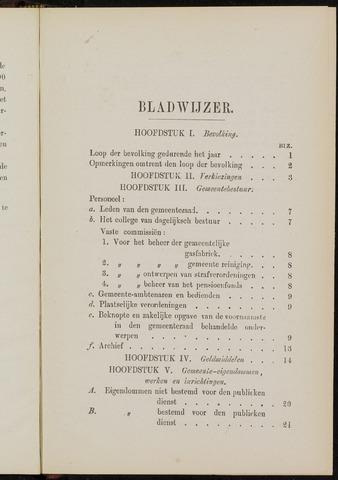 Breda - Verslagen van de toestand van de gemeente 1882-01-01