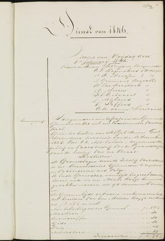 Ginneken en Bavel - Notulen van de gemeenteraad 1846-01-01