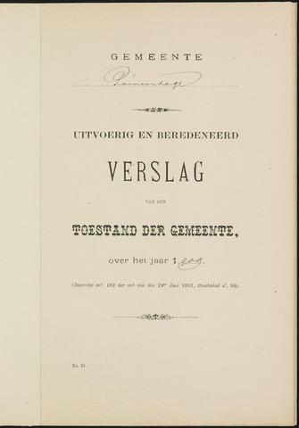 Princenhage - Verslagen van de toestand van de gemeente 1909