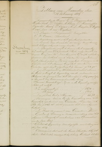 Ginneken en Bavel - Notulen van de gemeenteraad 1859-01-01