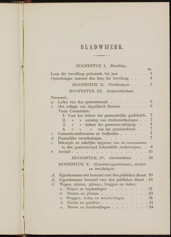 Breda - Verslagen van de toestand van de gemeente 1878
