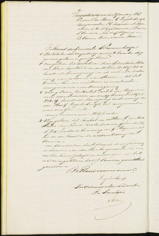 Princenhage - Notulen van de gemeenteraad 1838-01-01