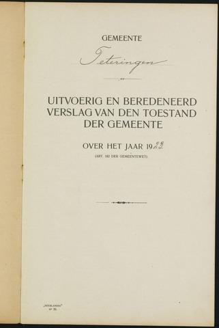 Teteringen - Verslagen van de toestand van de gemeente 1923-01-01