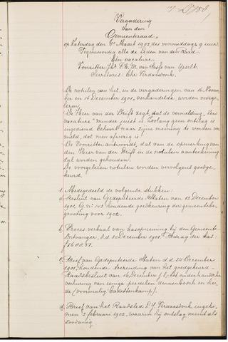 Teteringen - Notulen en bijlagen van de gemeenteraad 1902