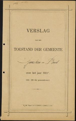 Ginneken en Bavel - Verslagen van de toestand van de gemeente 1924