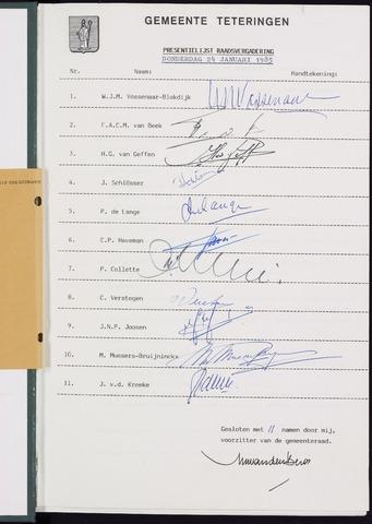 Teteringen - Notulen en bijlagen van de gemeenteraad 1985-01-24