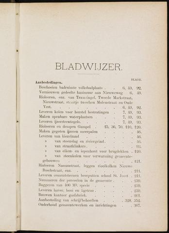 Breda - Indexen op de notulen van de gemeenteraad 1897