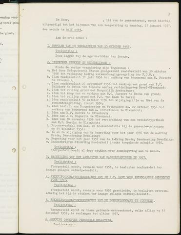 Nieuw-Ginneken - Notulen en bijlagen van de gemeenteraad 1957