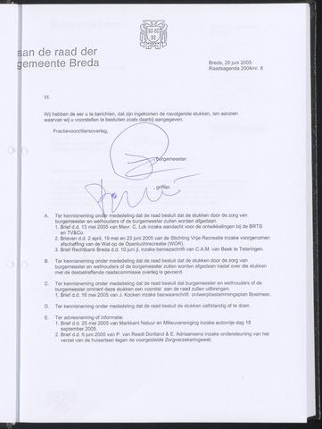 Breda - Bijlagen bij de notulen van de gemeenteraad 2005-05-29
