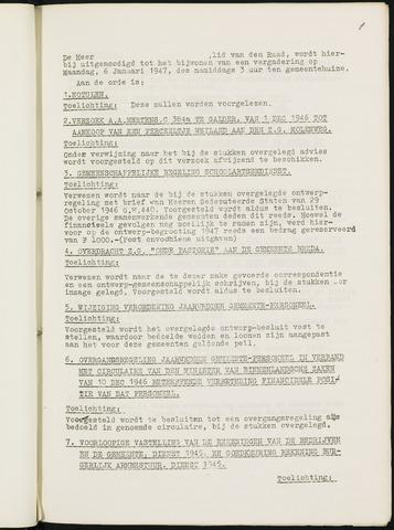 Nieuw-Ginneken - Notulen en bijlagen van de gemeenteraad 1947