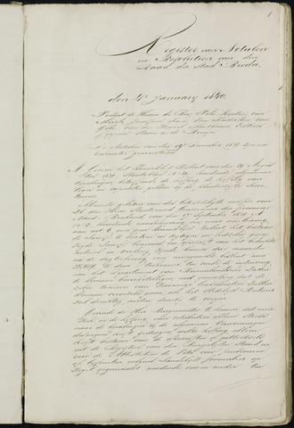 Breda - Notulen van de gemeenteraad 1840