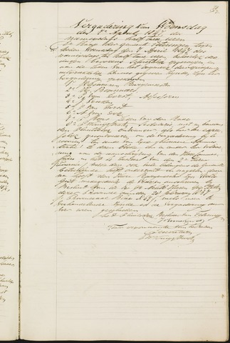 Teteringen - Notulen en bijlagen van de gemeenteraad 1847