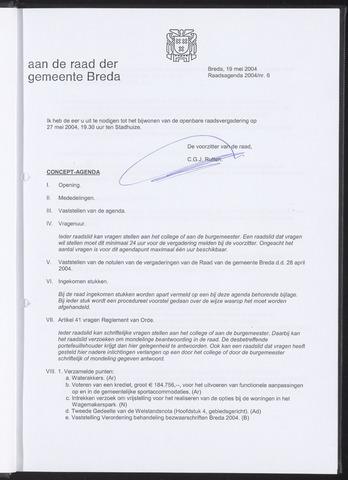 Breda - Bijlagen bij de notulen van de gemeenteraad 2004-05-19