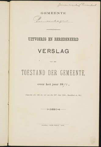 Princenhage - Verslagen van de toestand van de gemeente 1898