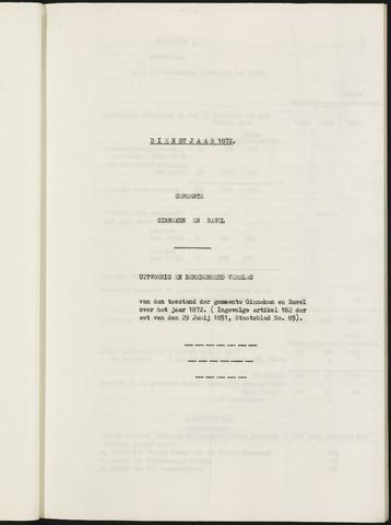 Ginneken en Bavel - Verslagen van de toestand van de gemeente 1872