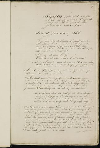 Breda - Notulen van de gemeenteraad 1867-01-01