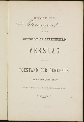 Teteringen - Verslagen van de toestand van de gemeente 1885