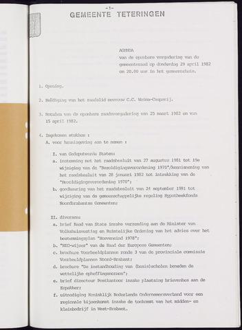 Teteringen - Notulen en bijlagen van de gemeenteraad 1982-04-29