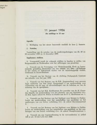Breda - Notulen van de gemeenteraad 1956-01-01